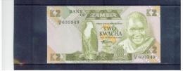 SAMBIA ,  ZAMBIA  , (980 - 1988 )  ,  2  Two  Kwacha  ,  Sign.7  ,   Pick# 24 C      ,  UNC - Sambia