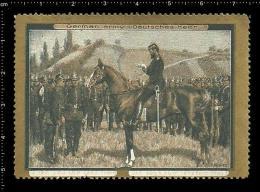 Old Original German Poster Stamp ( Cinderella Reklamemarke ) German Army  - Military Soldier Horse Pferd - Militaria