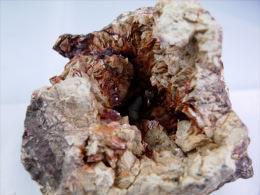 ZINKENITE  DANS  GEODE DE SIDERITE 5, X 4, CM SAINT PONS - Mineralien