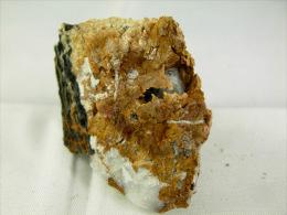 ZINKENITE DANS CALCITE SUR SIDERITE 4, X 3, CM SAINT PONS - Minéraux