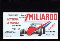 MONZA 1986 - Biglietti Della Lotteria