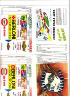 LOTTERIE - 5  Cartoline  Nuove - Billets De Loterie
