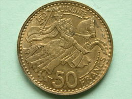 1950 - 50 FRANCS / KM 132 ( Uncleaned - For Grade, Please See Photo ) ! - Monaco