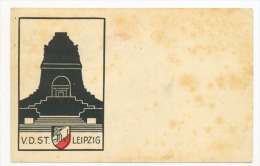 V.D.ST.  Leipzig Graphic Designed City Symbol Postcard - Leipzig