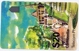 Télécarte 20 $ Cambodge - Palace, Telecom Phonecard ICM3-1-2 - Cambodge