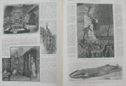 N°2234ILLUSTRATION 1885:THEATRE VAUDEVILLE/BALKANS GUERRE  TZARIBROD/PHILADELPHIE/MO NTREAL/LA SEYNEBRUX ECHOUAGE BALEIN - Journaux - Quotidiens