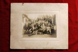 Photographie Photo : Camp De Prisonniers Militaires Soldtas Prisoners Poilus WWI Guerre 14 - 18 - Guerra, Militari