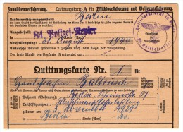 Quittungskarte Allemande 1944 - Documenti