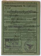 Versicherungskarte Allemande 1944 - 1939-45
