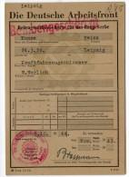 Arbeitsfront Allemande 1943 - Documenti