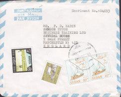 Sudan Airmail Par Avion KHARTOUM (North) 19?? To MANCHESTER England Ship Schiff - Soedan (1954-...)