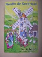 La Turballe - Moulin De Kerbroué - Carte Publicitaire - Moulins à Vent