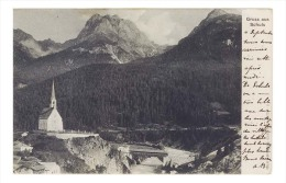 CPA 1904 Gruss Aus SCHULS ,  Eglise Et Le Pont , Edit. Stockenius , Suisse Grisons - GR Grisons