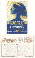 Postcard Art Deco Women´s Fair Olympia Catalogue Cover 1938 Nostalgia Repro - Exhibitions