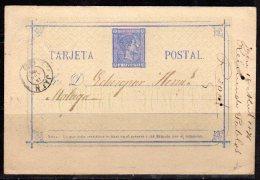 Classic Postcard JAEN To MALGA 1876 (s122) - Ganzsachen