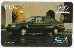 Télécarte 10$ Fidji 1993 - Voiture Hyundai Elantra - Fidji