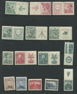 Chechoslovakia 1938 Mi 387-0, 3392-401, 404-5 MNH With Labels (1 Stamp Is MLH) - Czechoslovakia