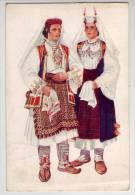 Yugoslavia Croatia Art Painter VLADIMIR KIRIN Costume National Dalmatie Vrlika Sinj Old PC Us 1950 / 17086 - Yougoslavie