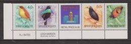 Papua New Guinea 1991 Bird Definitives - Hong Kong 1994 Strip Of 4 With Label MNH - Papua New Guinea