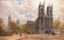 Arthur De Breanski - The West Front Of Westminster Abbey -   3583 - Tuck, Raphael