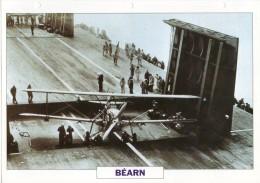 FICHE 25 X 18.5 CM PORTE-AVIONS LEGER FRANCAIS BEARN 1940 TBE - Boats
