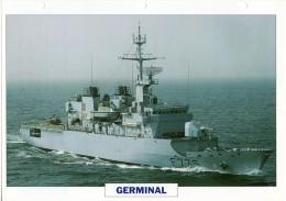 FICHE 25 X 18.5 CM FREGATE DE SURVEILLANCE FRANCAIS GERMINAL 1993 TBE - Boats