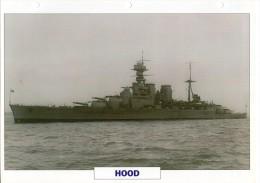 FICHE 25 X 18.5 CM CROISEUR DE BATAILLE ANGLAIS GB LE HOOD 1941 TBE - Boats