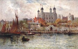 Arthur De Breanski - The Tower Of London From The River  -  3584 - Tuck, Raphael