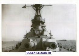 FICHE 25 X 18.5 CM CUIRASSE QUEEN ELIZABETH ANGLAIS GB 1941 TBE - Boats