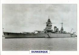 FICHE 25 X 18.5 CM CROISEUR DE BATAILLE FRANCAIS DUNKERQUE 1935 TBE - Boats