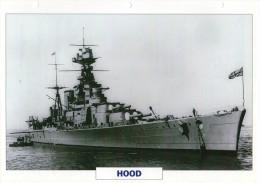 FICHE 25 X 18.5 CM CROISEUR DE BATAILLE ANGLAIS GB HOOD 1918 TBE - Boats