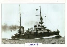FICHE 25 X 18.5 CM CUIRASSE FRANCAIS LIBERTE 1905 TBE - Boats