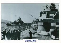 FICHE 25 X 18.5 CM SUPER-CUIRASSE ALLEMAND BISMARCK 1940 TBE - Boats