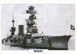 FICHE 25 X 18.5 CM CUIRASSE RUSSE MARAT 1911 TBE - Boats