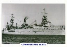 FICHE 25 X 18.5 CM TRANSPORT D'HYDRAVIONS FRANCAIS COMMANDANT TESTE 1929 TBE - Boats