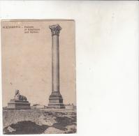 Alexandrie Colonne De Kartoum Et Sphinx - Alexandria