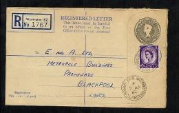 GB Postal Stationery Registration Registered Letter RP84G Used Warrington (W834) - Entiers Postaux