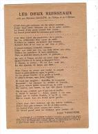 Les Deux Ruisseaux Joseph Vassivière/réf:5201 - Contes, Fables & Légendes