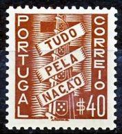 !■■■■■ds■■ Portugal 1935 AF#571* All For The Nation 40 Centavos (x0798) - Ungebraucht