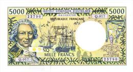 Polynésie Française / Tahiti - 5000 F CFP - Alphabet Q.017 / 2013 / Signatures Barroux / Noyer / Besse - Neuf / UNC - Papeete (Polynésie Française 1914-1985)