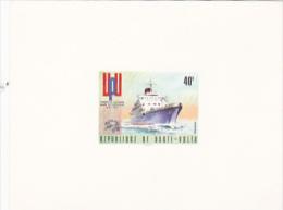 Burkina Faso 1974 UPU Centenary Proof Card, 40F Steamship - Burkina Faso (1984-...)