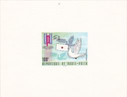 Burkina Faso 1974 UPU Centenary Proof Card, 100F Dove Carring Mail - Burkina Faso (1984-...)