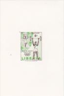 Liberia 1960 Olympic Games Rome 5c Imperforated Mini Sheet - Liberia