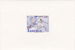 Liberia 1960 Olympic Games Rome 25c Imperforated Mini Sheet - Liberia