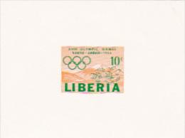 Liberia 1964 Olympic Games Tokyo 10c Imperforated Mini Sheet - Liberia