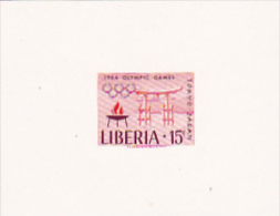 Liberia 1964 Olympic Games Tokyo 15c Imperforated Mini Sheet - Liberia