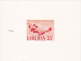 Liberia 1964 Olympic Games Tokyo 25c Imperforated Mini Sheet - Liberia