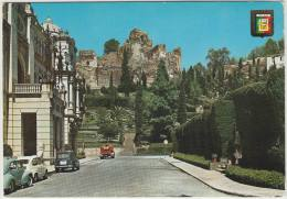 Malaga: RENAULT 4 & 4CV, SEAT 600, WATER / FIRETRUCK - Town Hall And Obscure Door - Espana/Spain - Toerisme