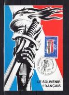"""Carte Maximum De 1977 N° Y&T 1926 """" LE SOUVENIR FRANCAIS """". Obl. LILLE + Prix Dégressif. CM - Cartes-Maximum"""
