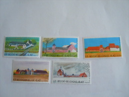 Belgie Belgique 2001 Grote Boerderijen Grande Fermes COB 3017-3021 MNH ** - België